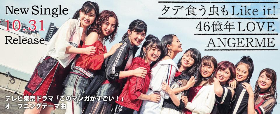 【HP】2018/10/31発売 SG アンジュルム「タデ食う虫もLike it!/46億年LOVE」